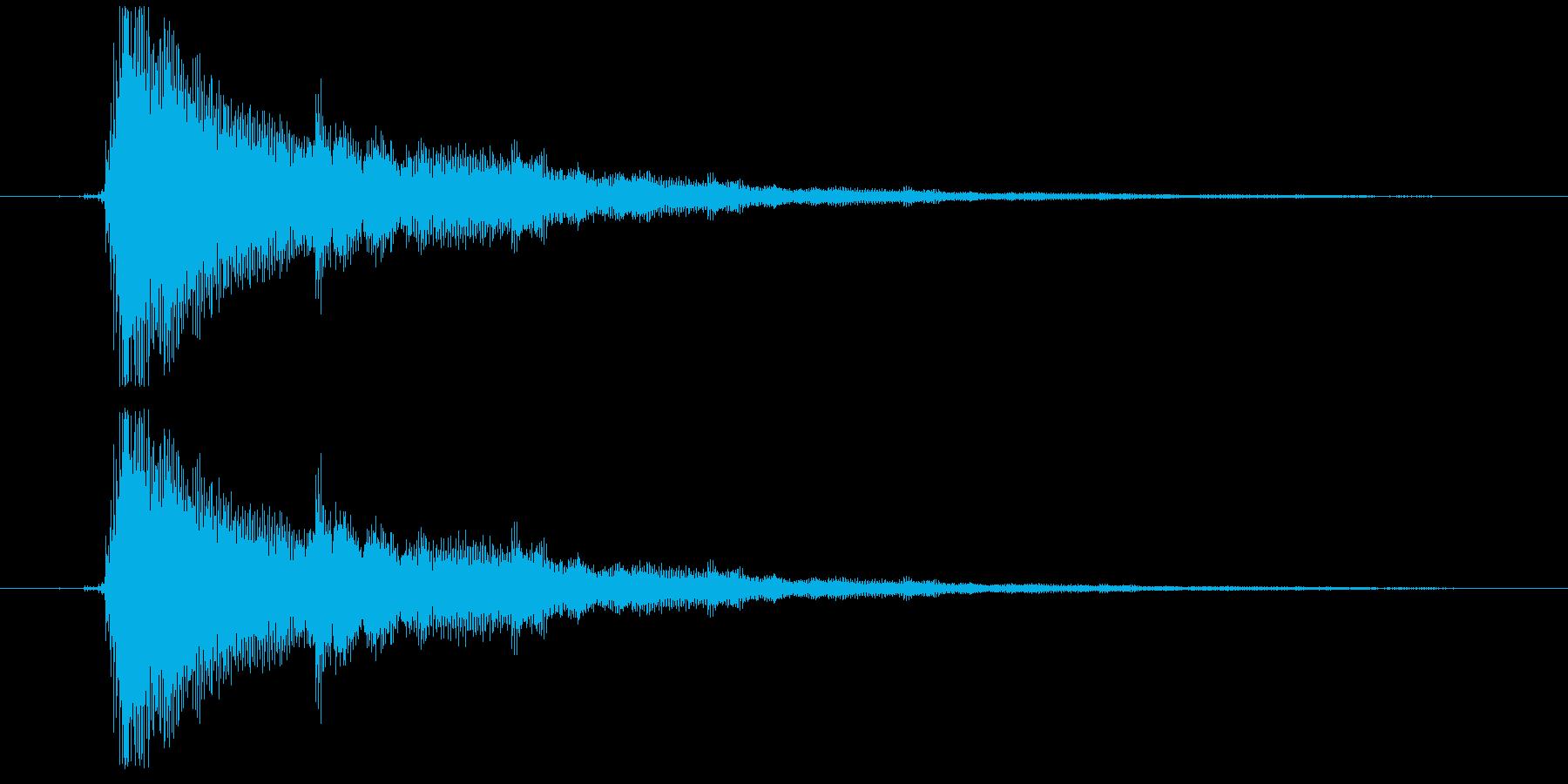 効果音(エレキギター)2の再生済みの波形