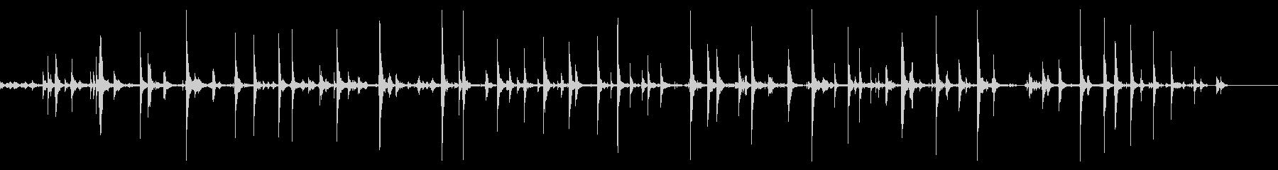 猫が爪を研ぐ音の未再生の波形