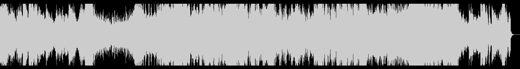 ホラー風味の強いシネマティックスケープの未再生の波形