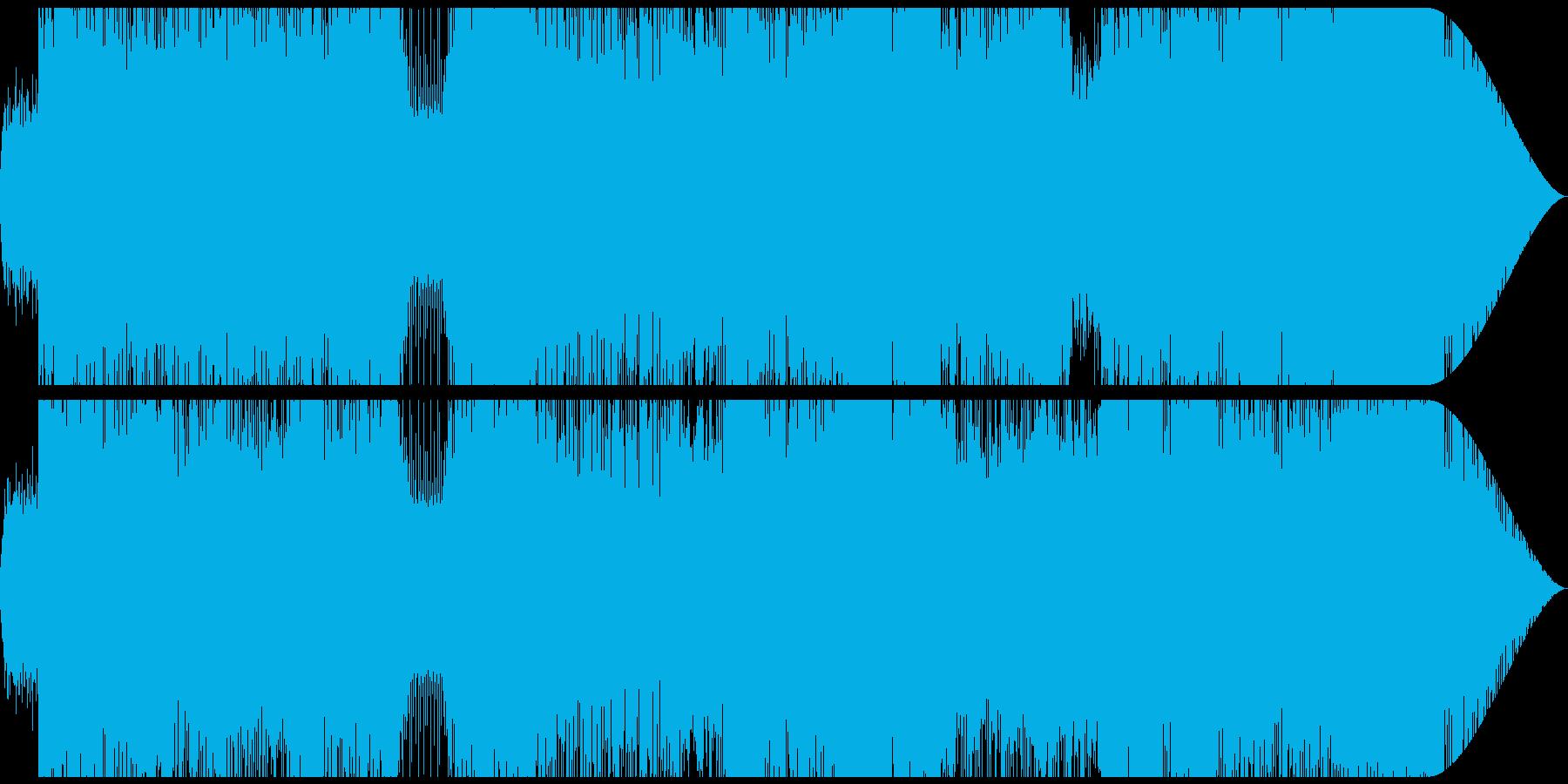 スピード感溢れるシーン用のハードロックの再生済みの波形