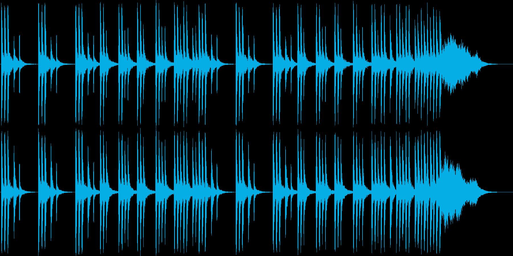 メルヘンな木琴・シンセなど短めの再生済みの波形