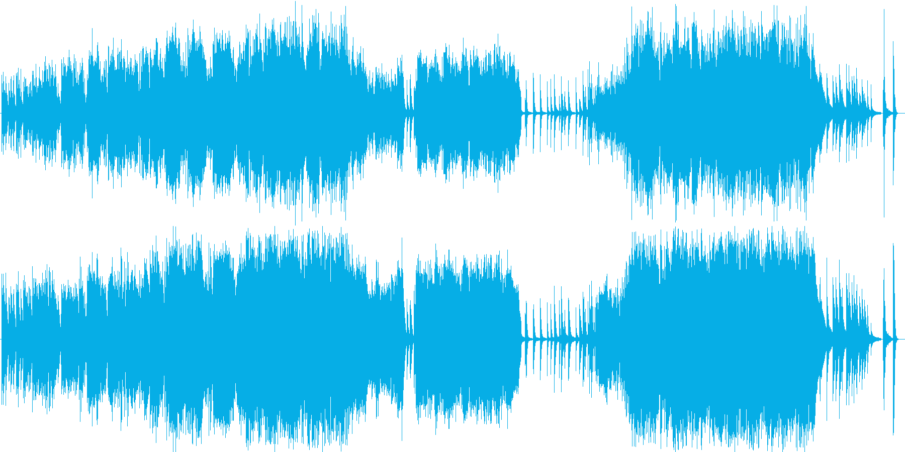 荘厳な雰囲気漂う音楽の再生済みの波形