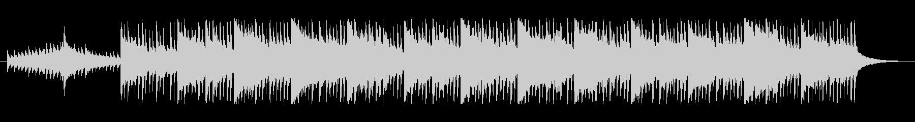 明るくポジティブなBGMの未再生の波形