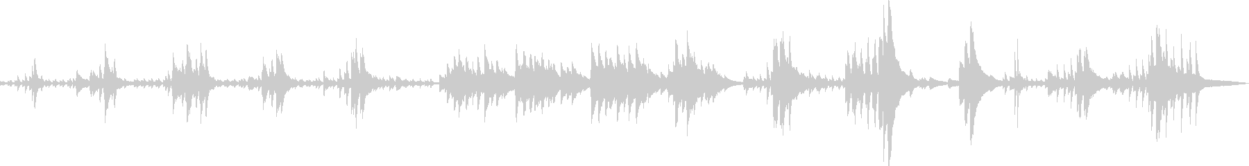 絶望の中で(ピアノ・悲しい・BGM)の未再生の波形