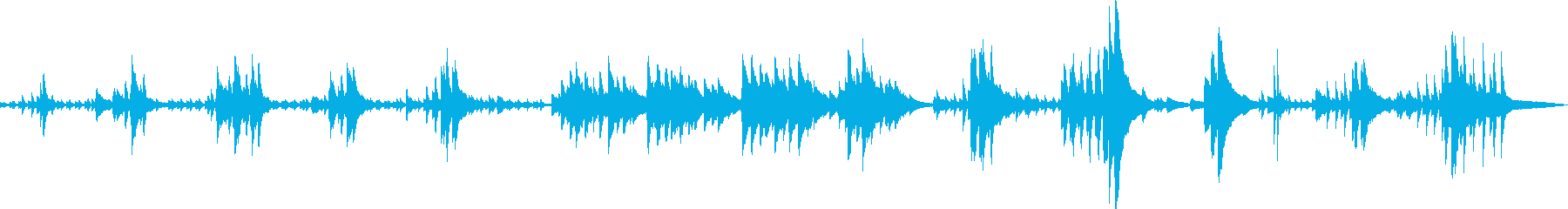 絶望の中で(ピアノ・悲しい・BGM)の再生済みの波形