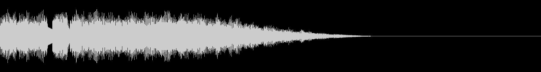オルガンのチャイム風ジングルの未再生の波形