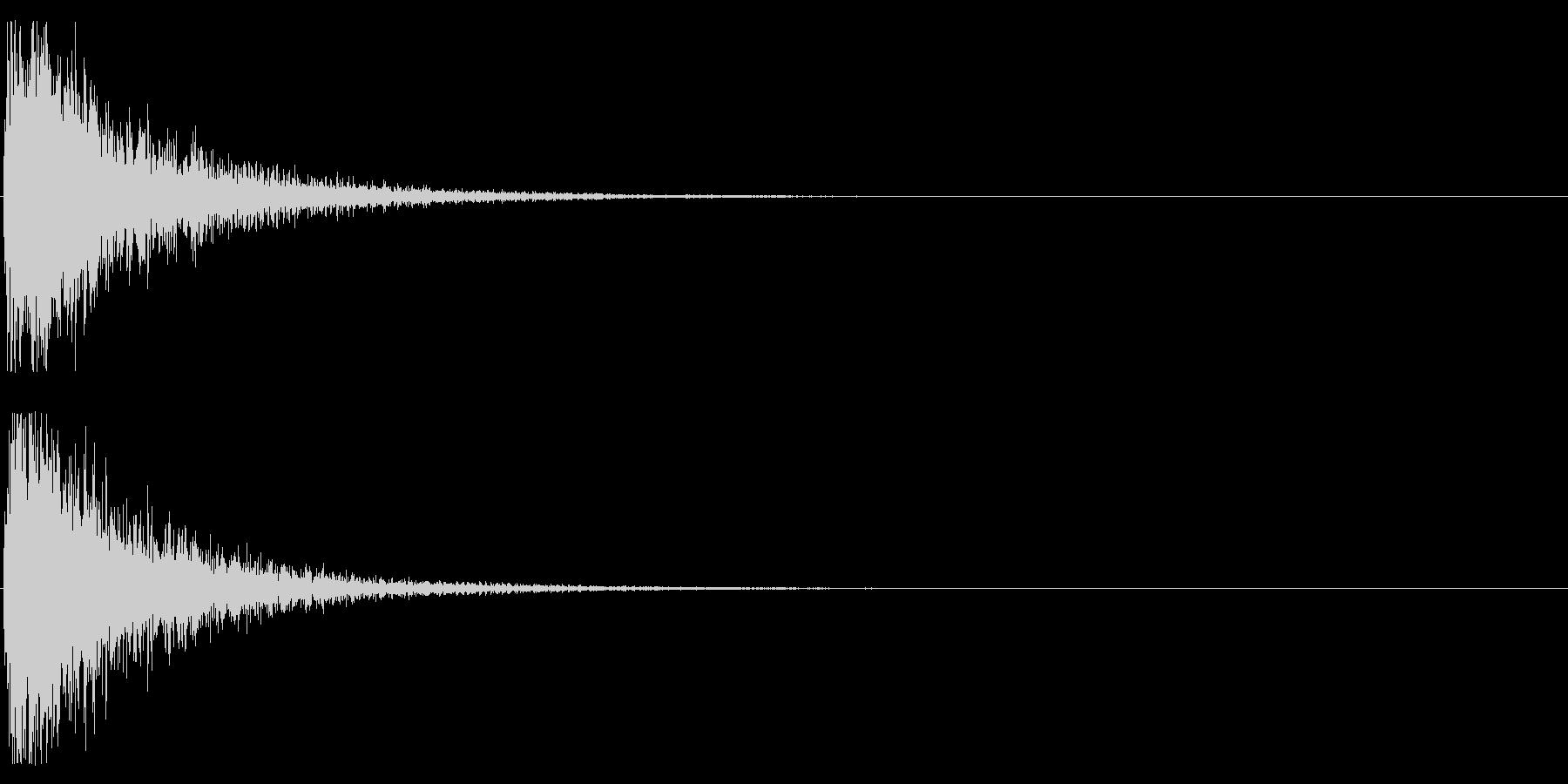 オケヒット MIDの未再生の波形