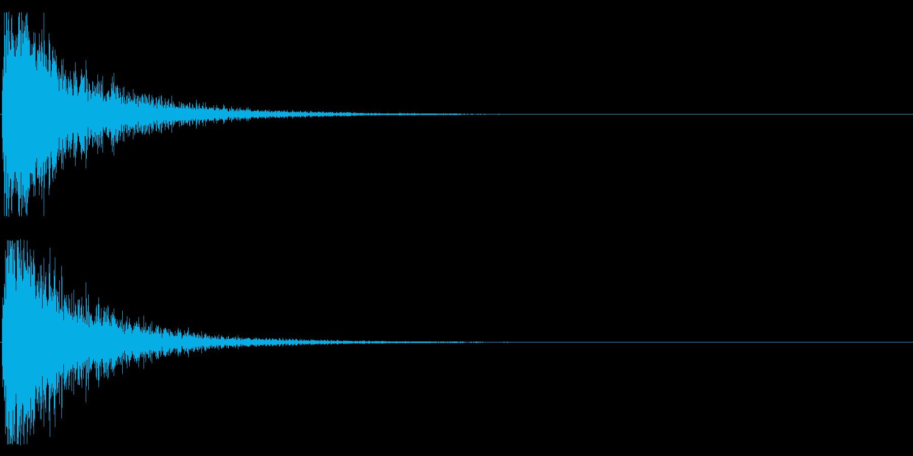 オケヒット MIDの再生済みの波形