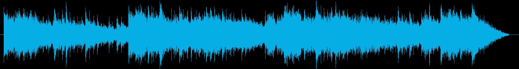 ダークなサスペンス映画風BGMの再生済みの波形