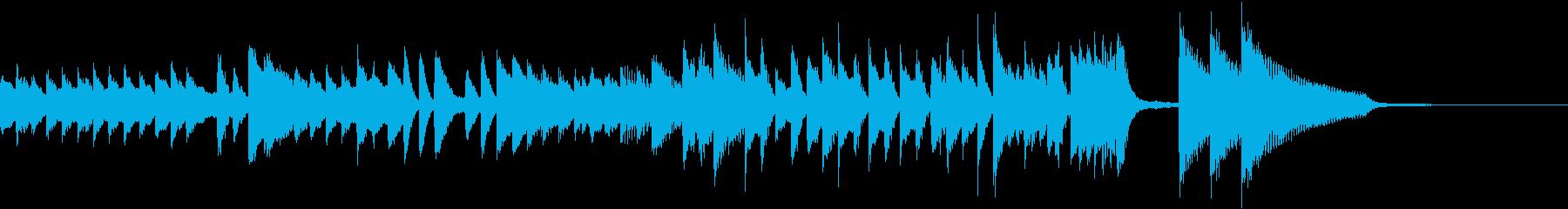 神楽をイメージした純日本風ピアノジングルの再生済みの波形