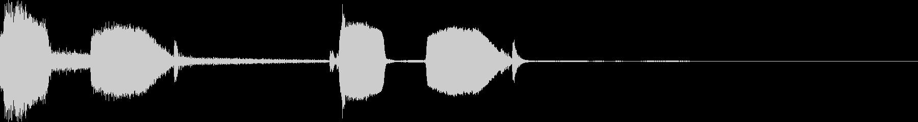 時間経過 チクタク 鳩時計 カッコウの未再生の波形