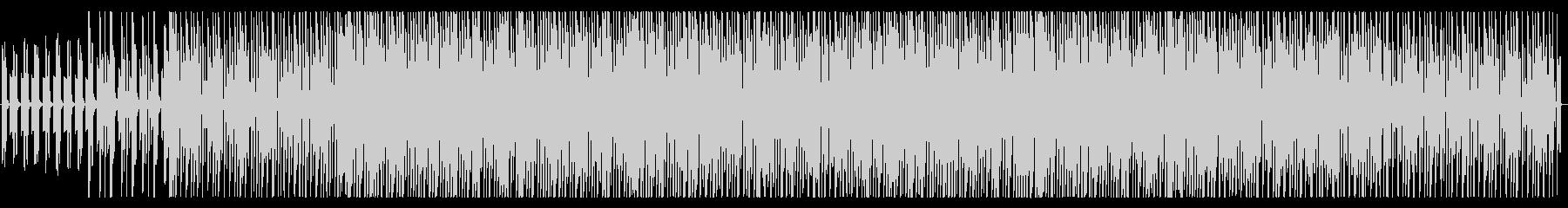 スローで落ち着いた雰囲気のEDMの未再生の波形