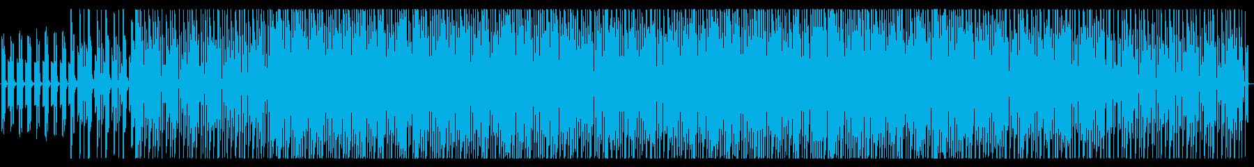 スローで落ち着いた雰囲気のEDMの再生済みの波形