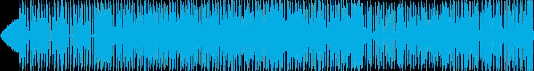 幻想的なEDMソングの再生済みの波形