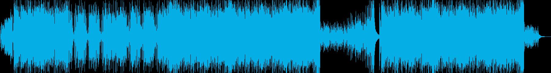 疾走感ある明るいロックポップスの再生済みの波形