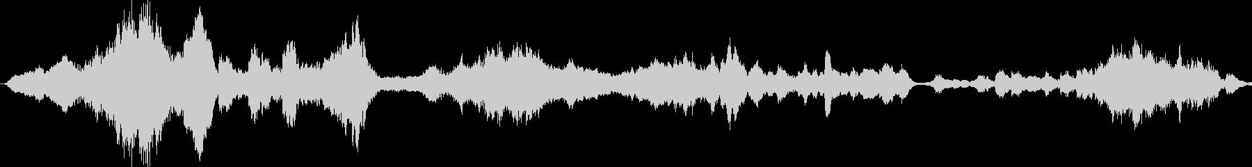 不気味なエピック系BGMの未再生の波形