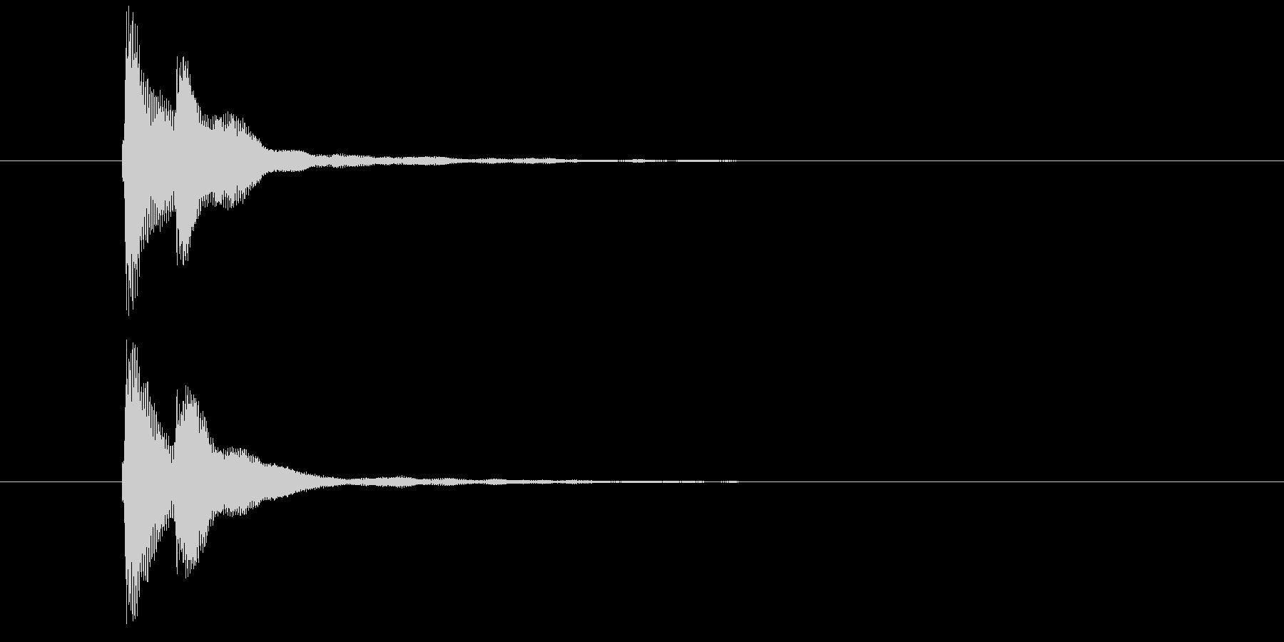 キラン(コイン・メダル・ポイント・閃き)の未再生の波形