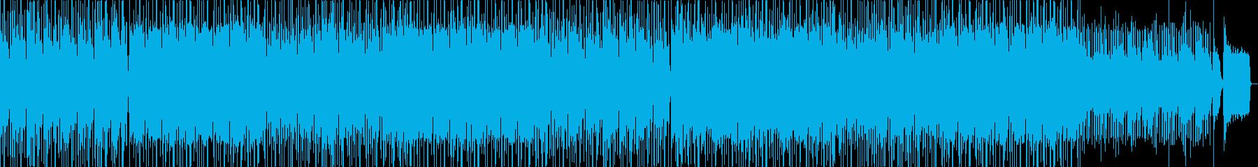 ゆったりした爽やかなハネ系リズムの曲の再生済みの波形