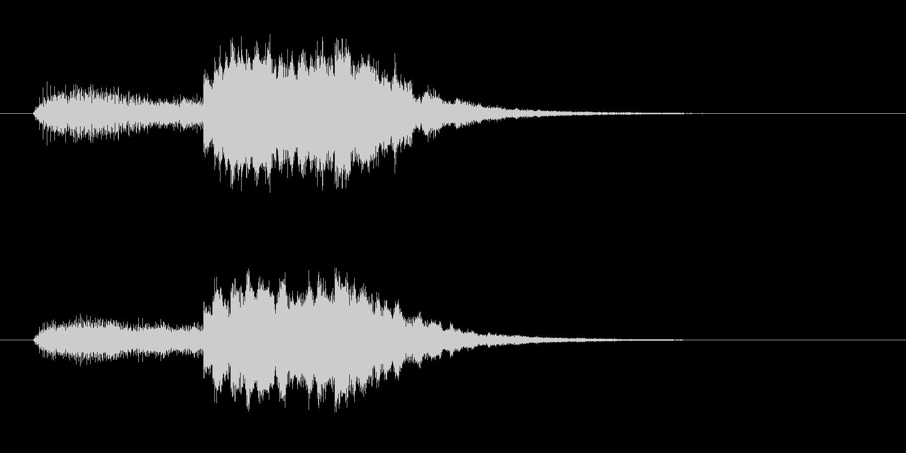 浮遊感あるシンセとピロリンピロリン音の未再生の波形