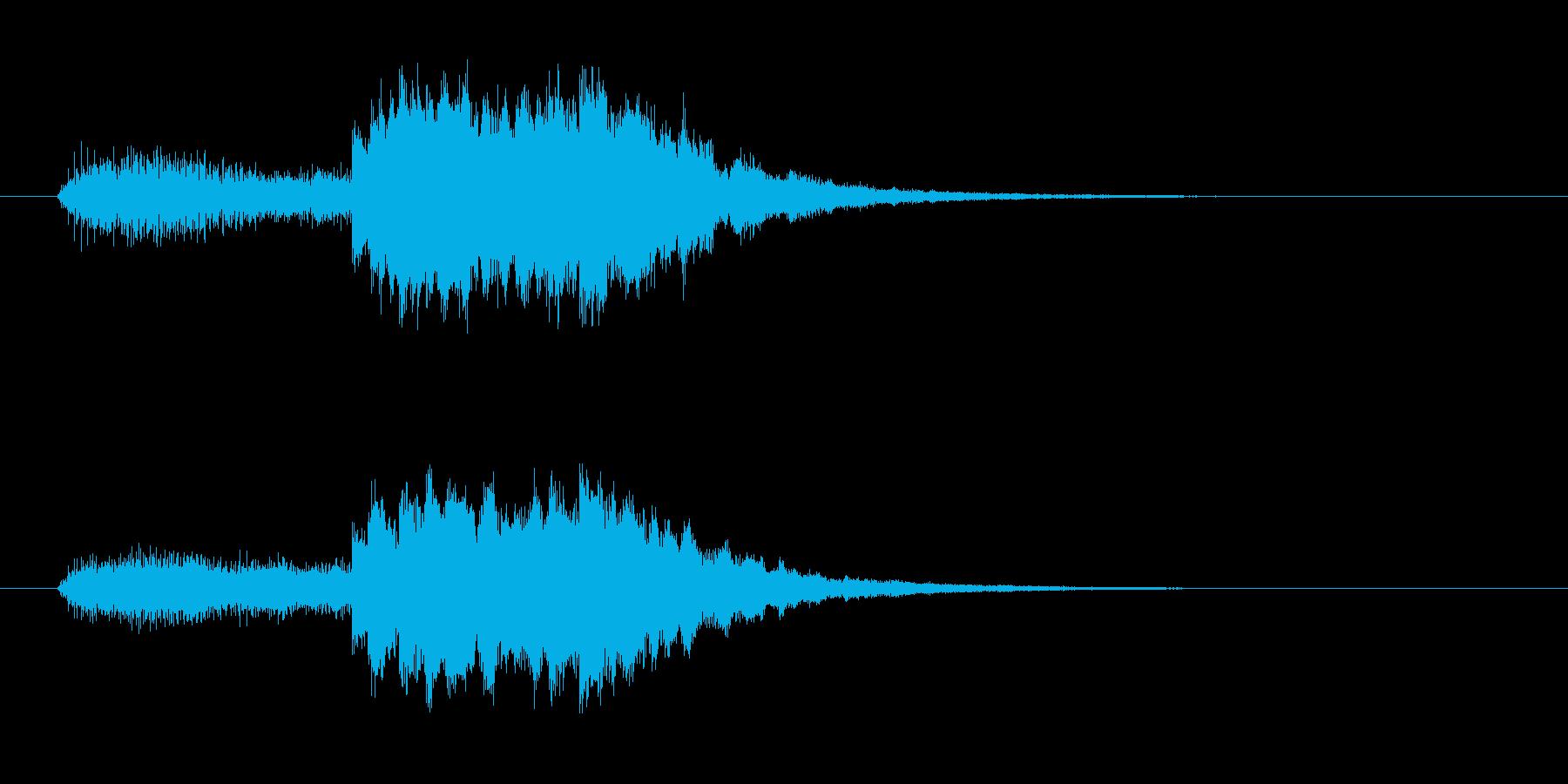 浮遊感あるシンセとピロリンピロリン音の再生済みの波形
