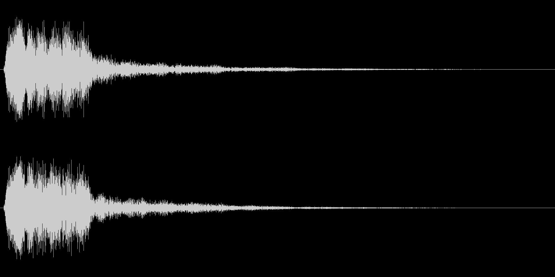 ピユーン!(スピード感のある効果音)の未再生の波形