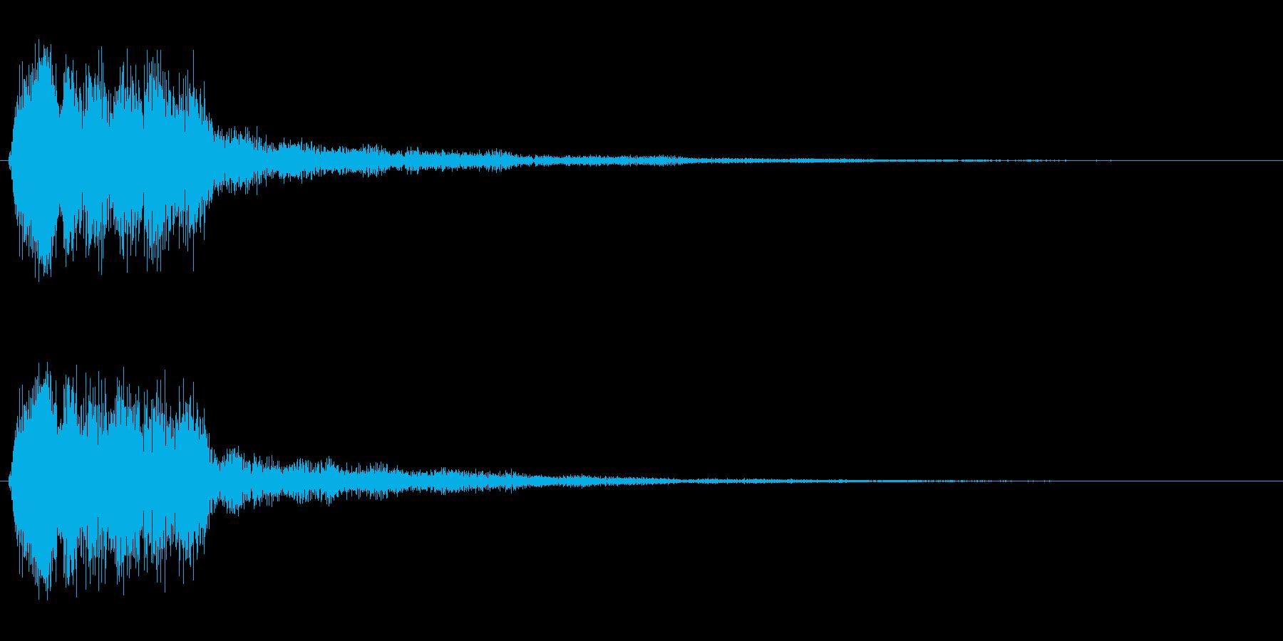 ピユーン!(スピード感のある効果音)の再生済みの波形