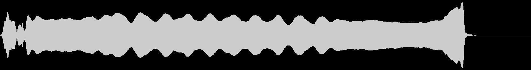 ピー(篠笛)の未再生の波形