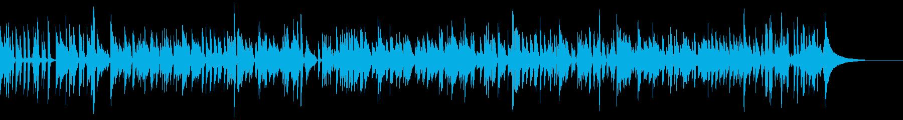 爽やかなボサノバのミディアムナンバーの再生済みの波形