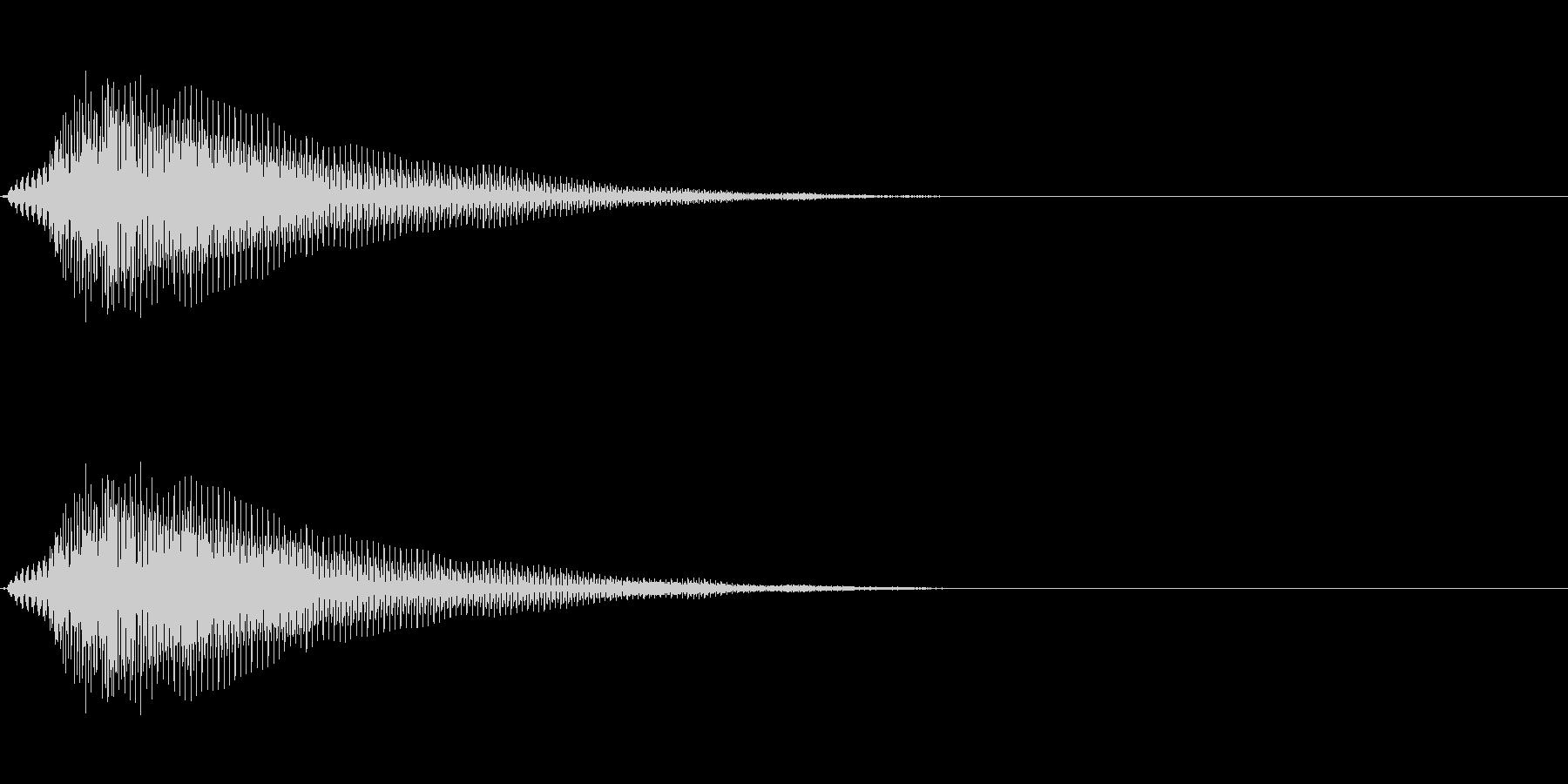 緩い電子音の未再生の波形