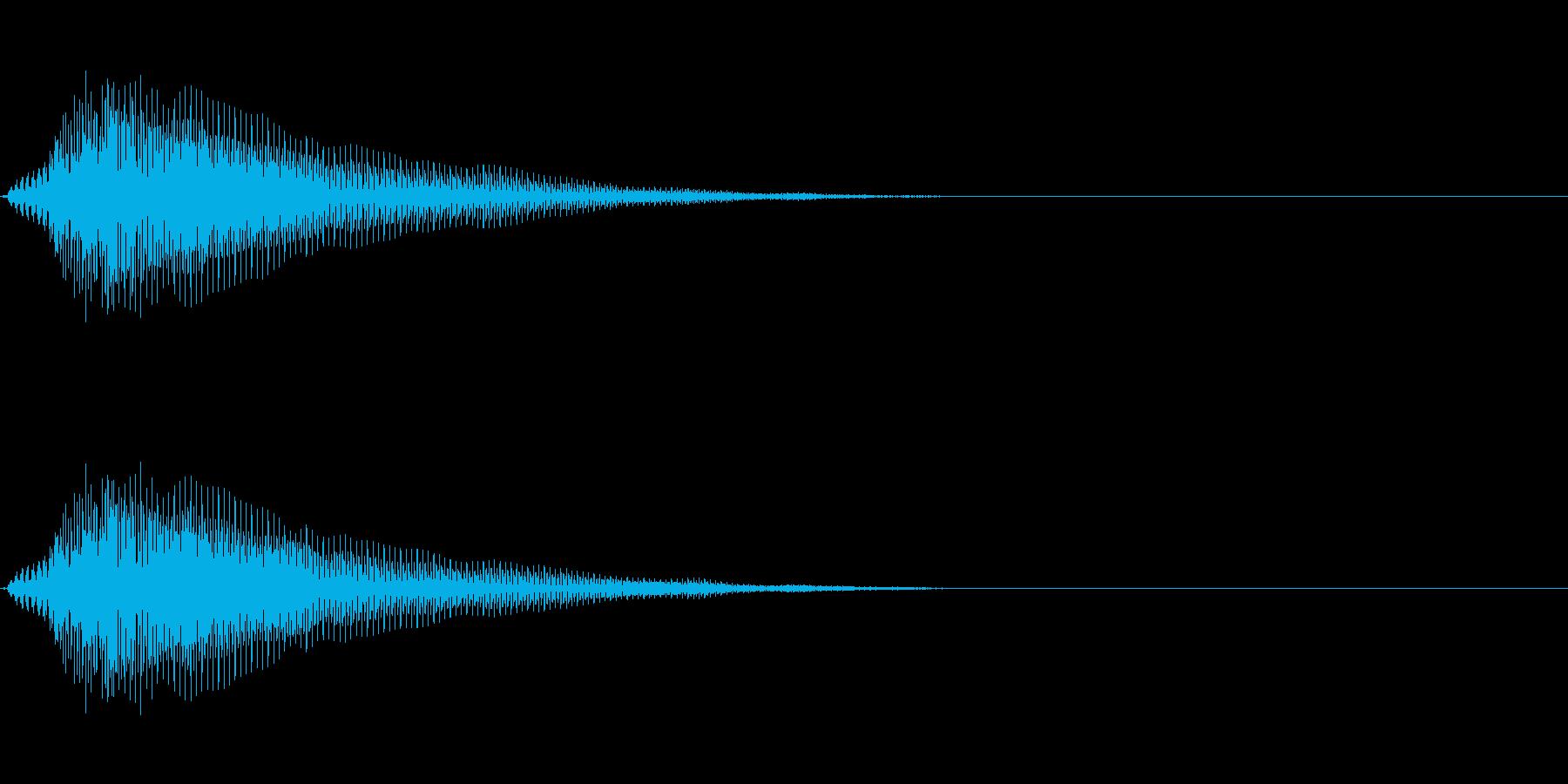 緩い電子音の再生済みの波形