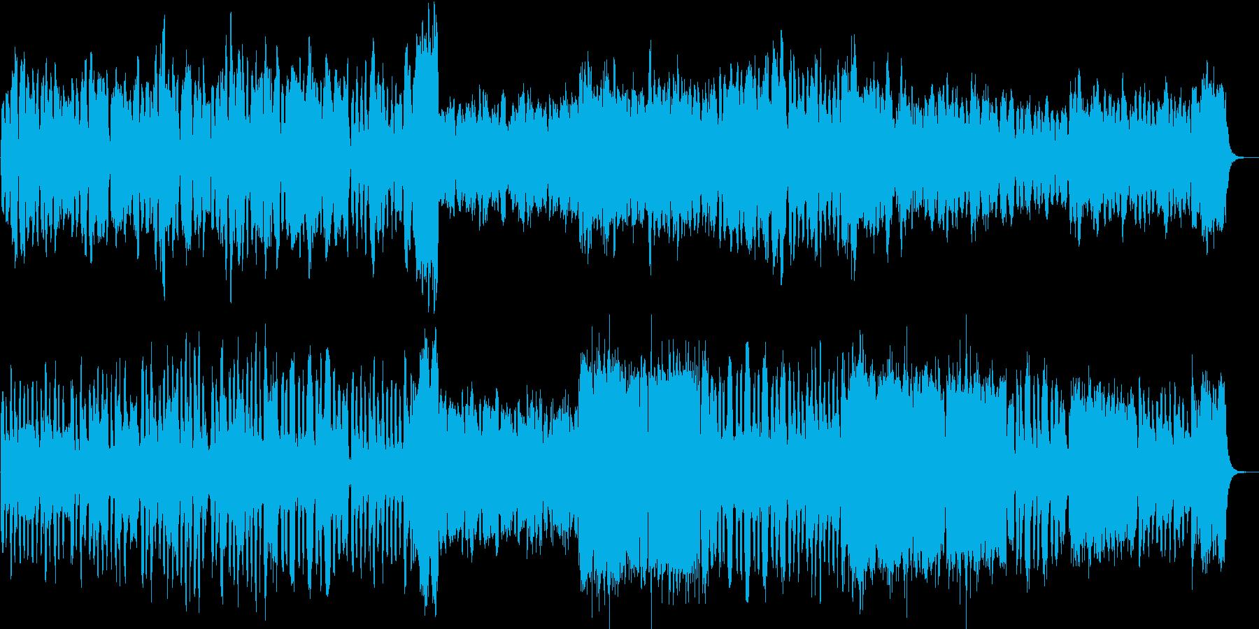 温もりのあるゆるやかなメロディーの再生済みの波形