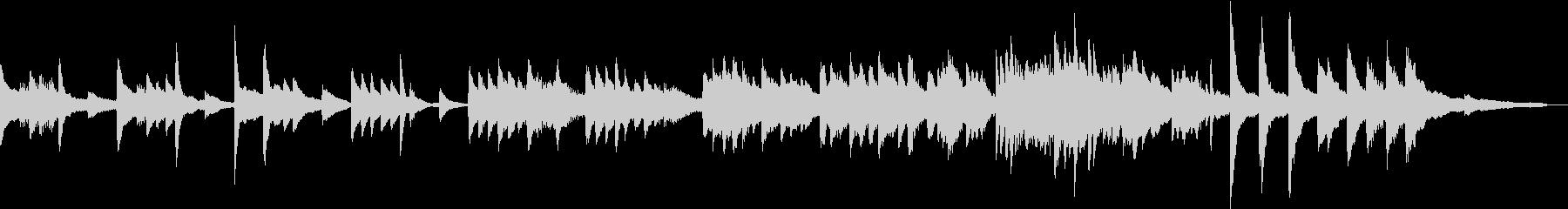 朝のラウンジに流れるようなBGMの未再生の波形
