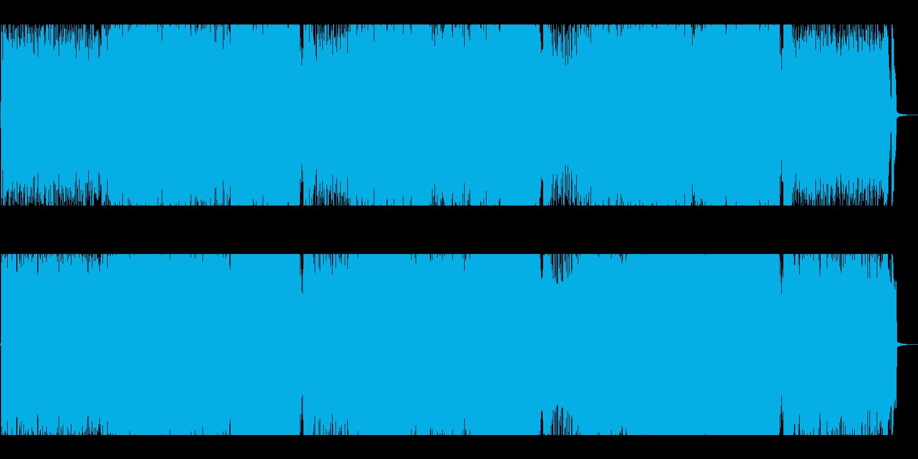 攻撃的なバトル向けパワーロックインストの再生済みの波形