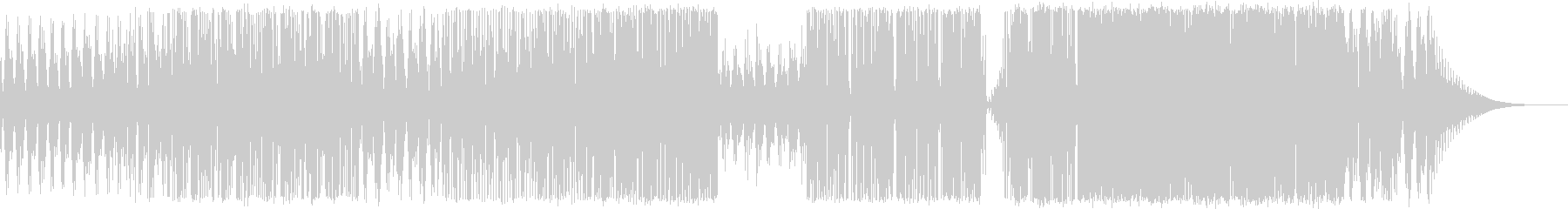 クラシックギターメインのダブステップの未再生の波形