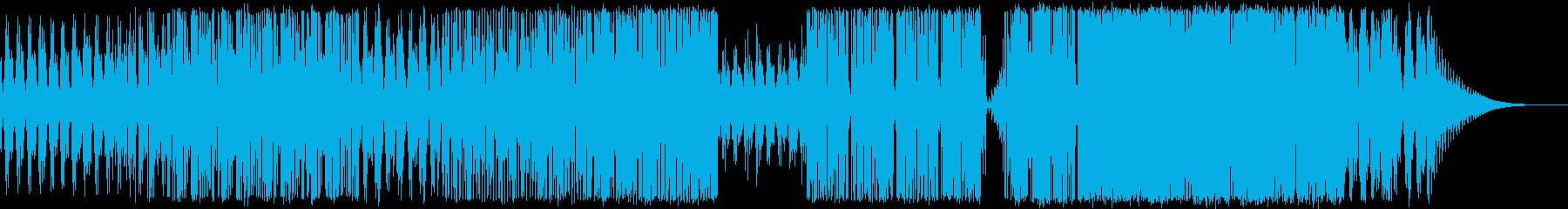 クラシックギターメインのダブステップの再生済みの波形