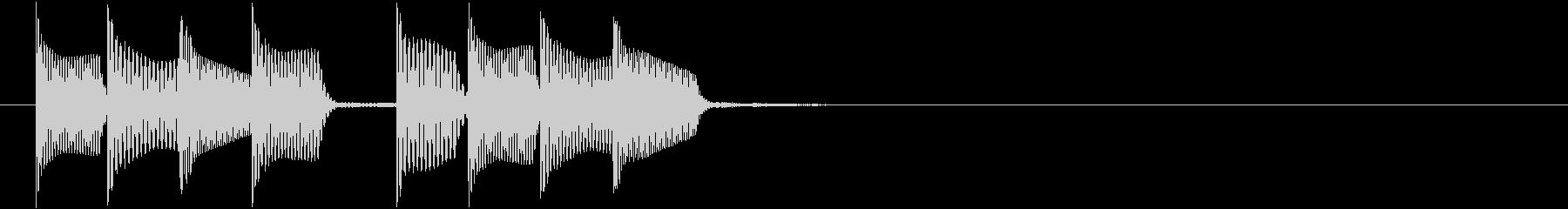 「着信」メッセージ/アラート_000の未再生の波形