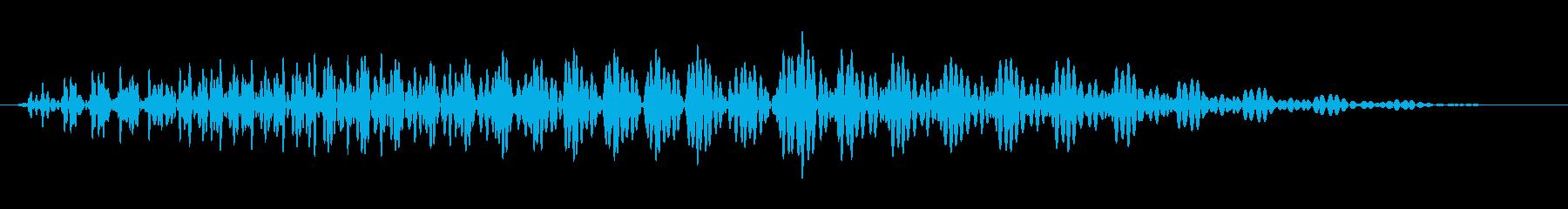 腹ぺこ・お腹が鳴る音(グゥ〜)の再生済みの波形