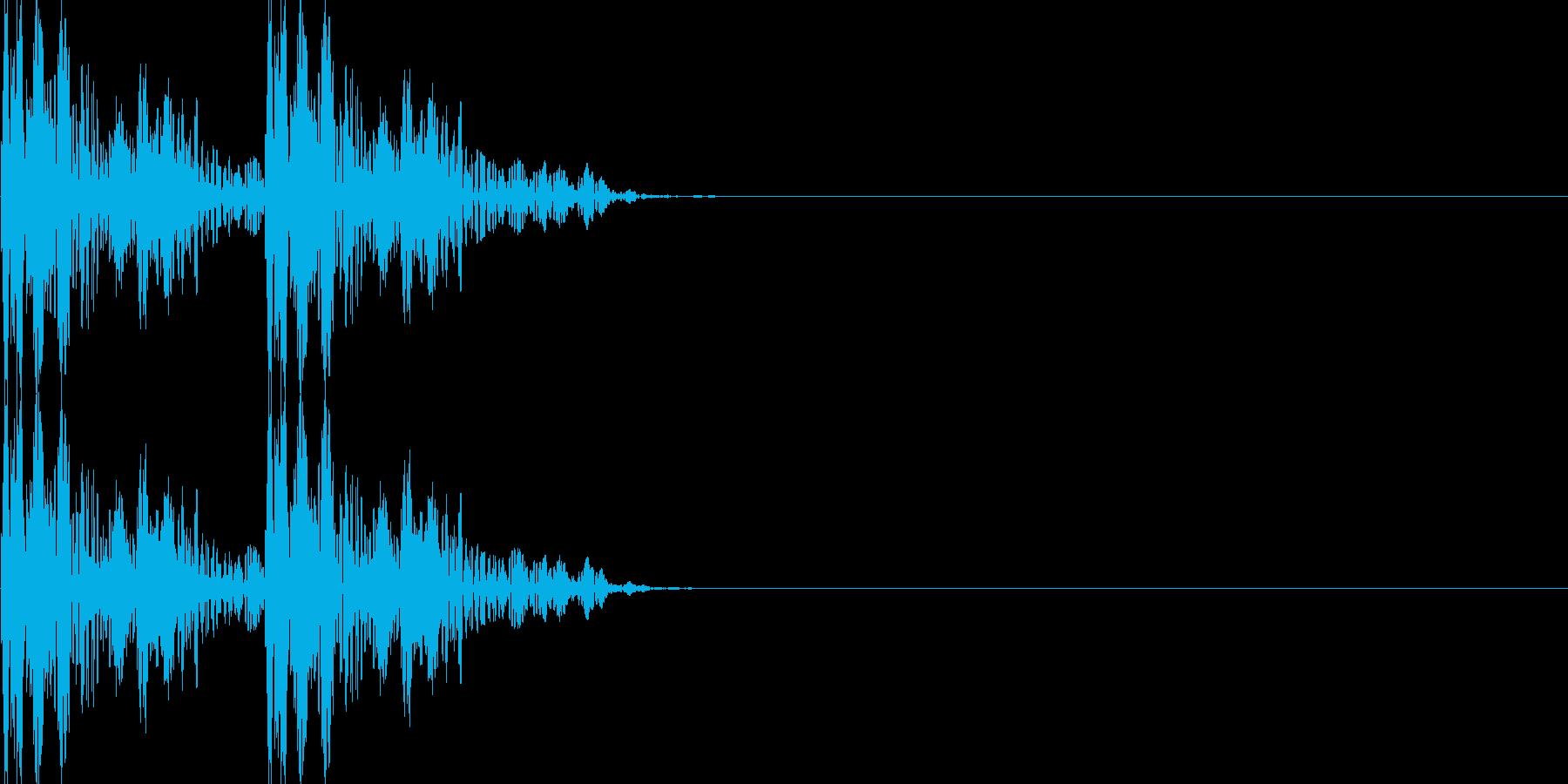 古いRPG風移動音の再生済みの波形