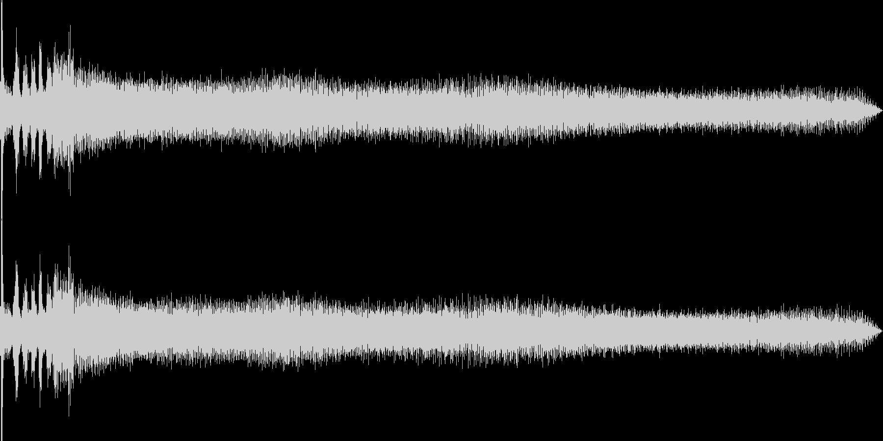 車のエンジンをかける(車外から録音)の未再生の波形
