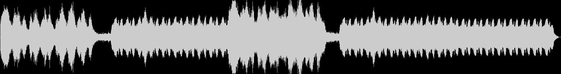 陰鬱としたホラーBGMの未再生の波形