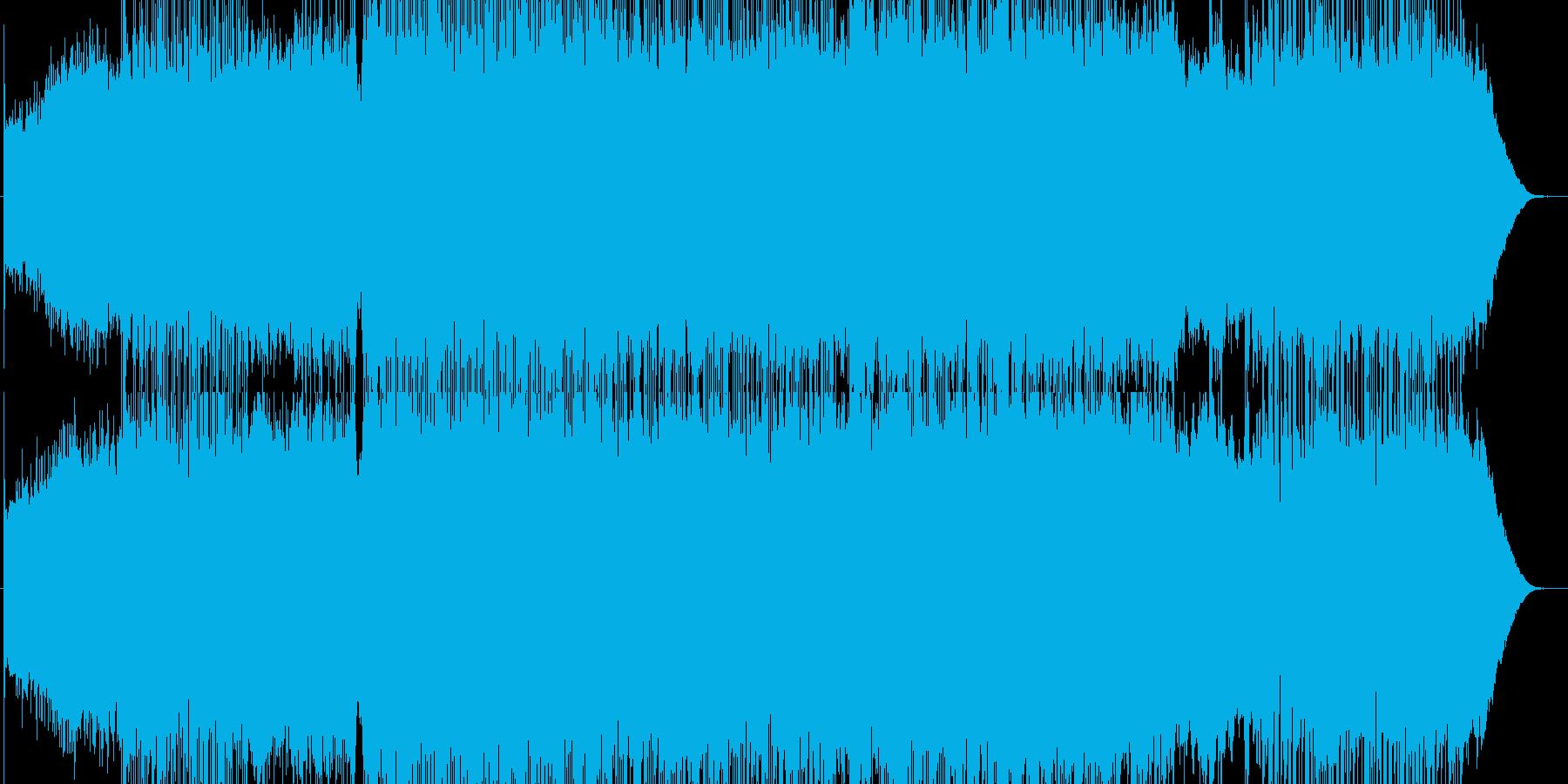 超攻撃的な疾走メタルコアの再生済みの波形