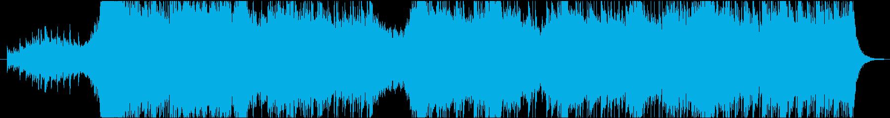 オーケストラ編成の壮大なテーマの再生済みの波形