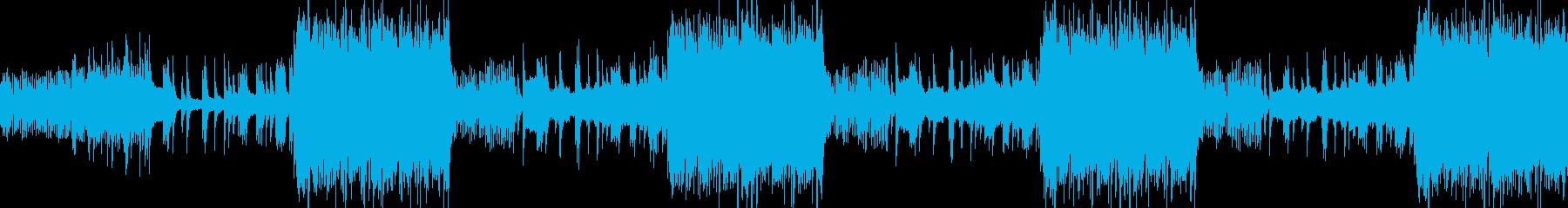 とても神秘的な氷をイメージした曲の再生済みの波形