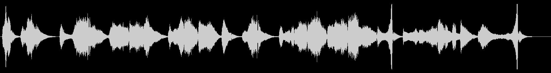 アコーディオンによるカバー曲の生演奏の未再生の波形