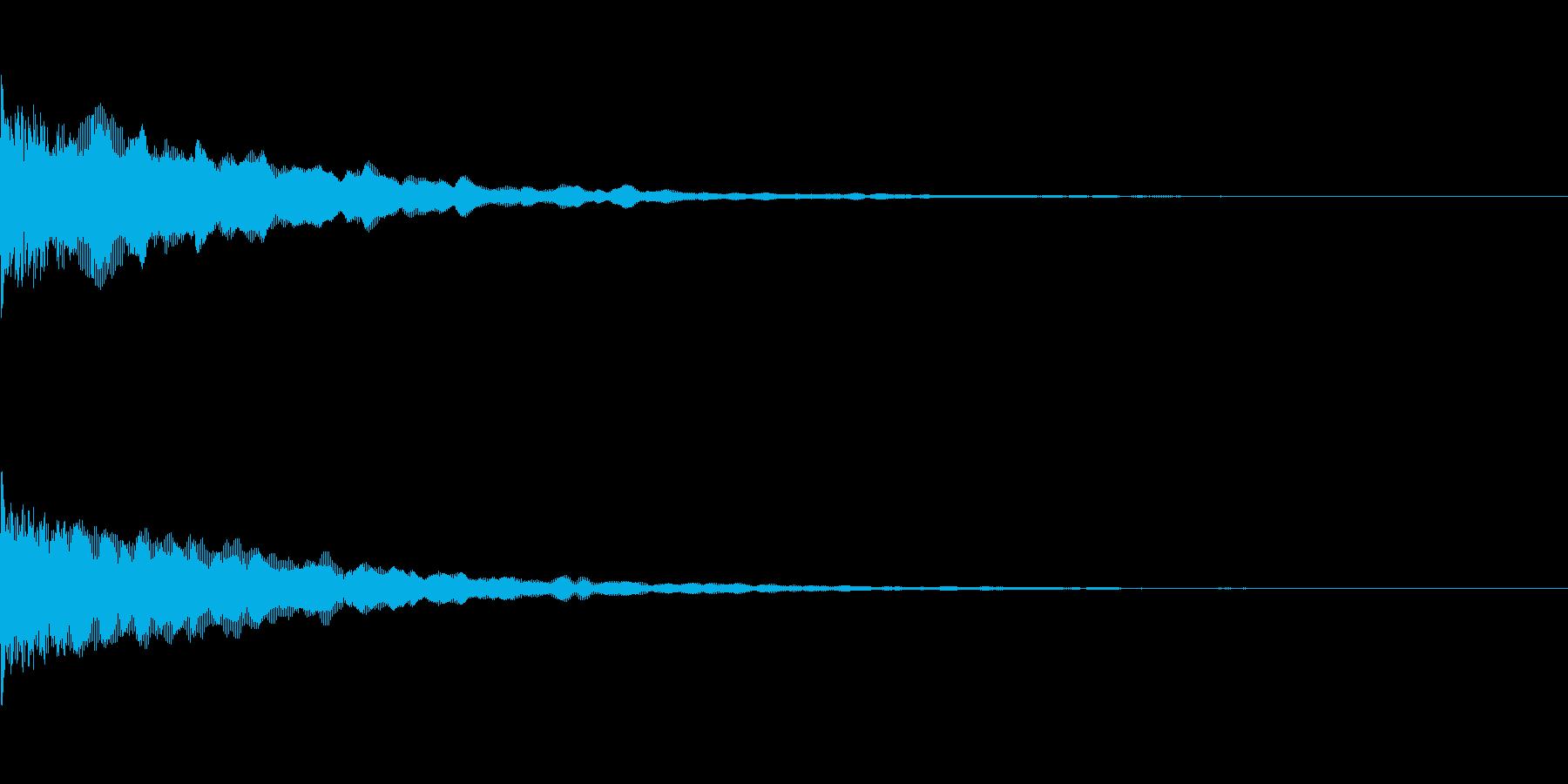 ピョーン(決定)の再生済みの波形