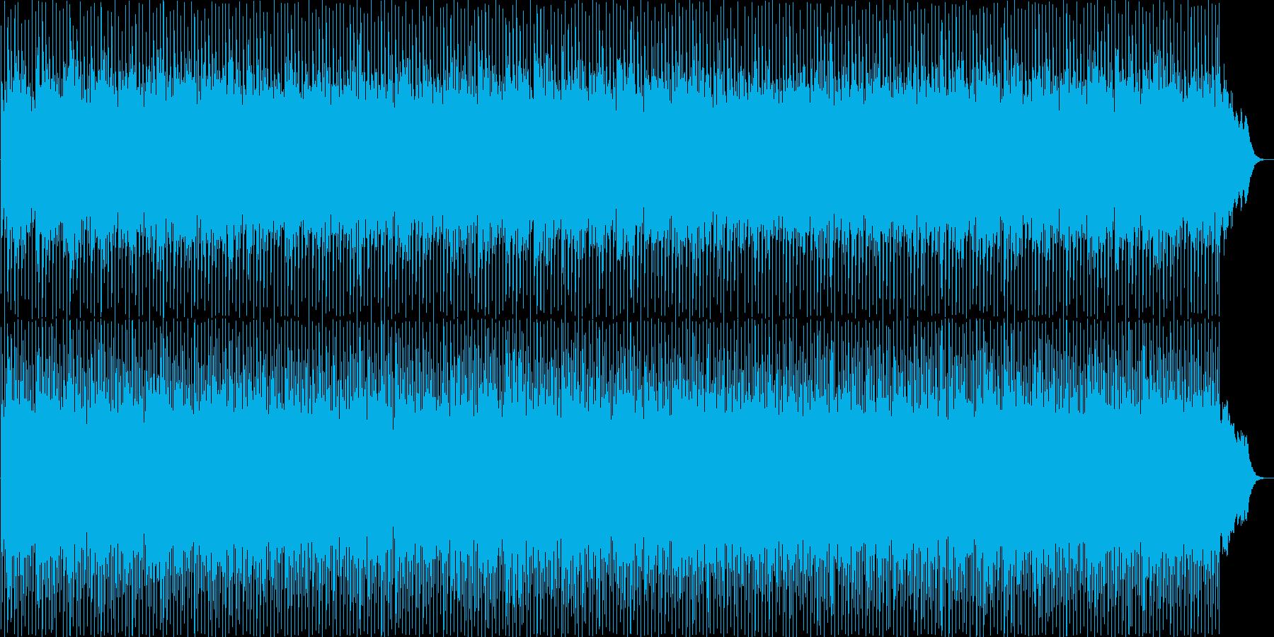 爽快感溢れるポップス曲の再生済みの波形