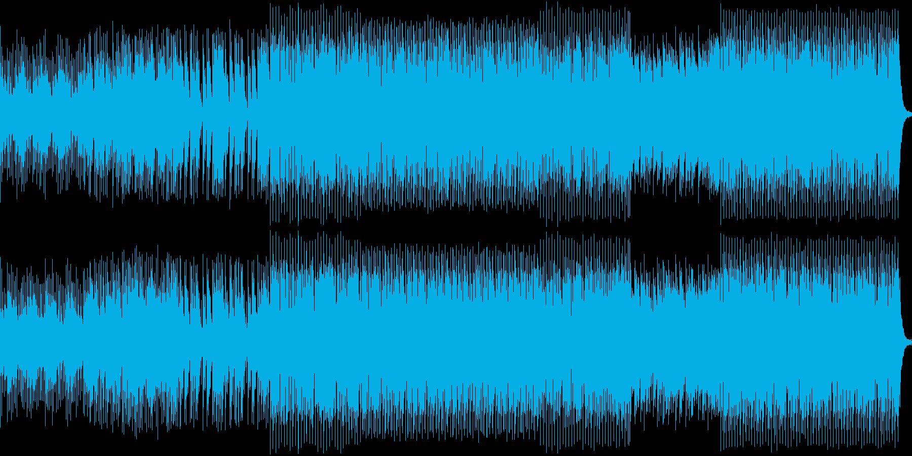 スピーディな展開で海底を探検する楽曲の再生済みの波形