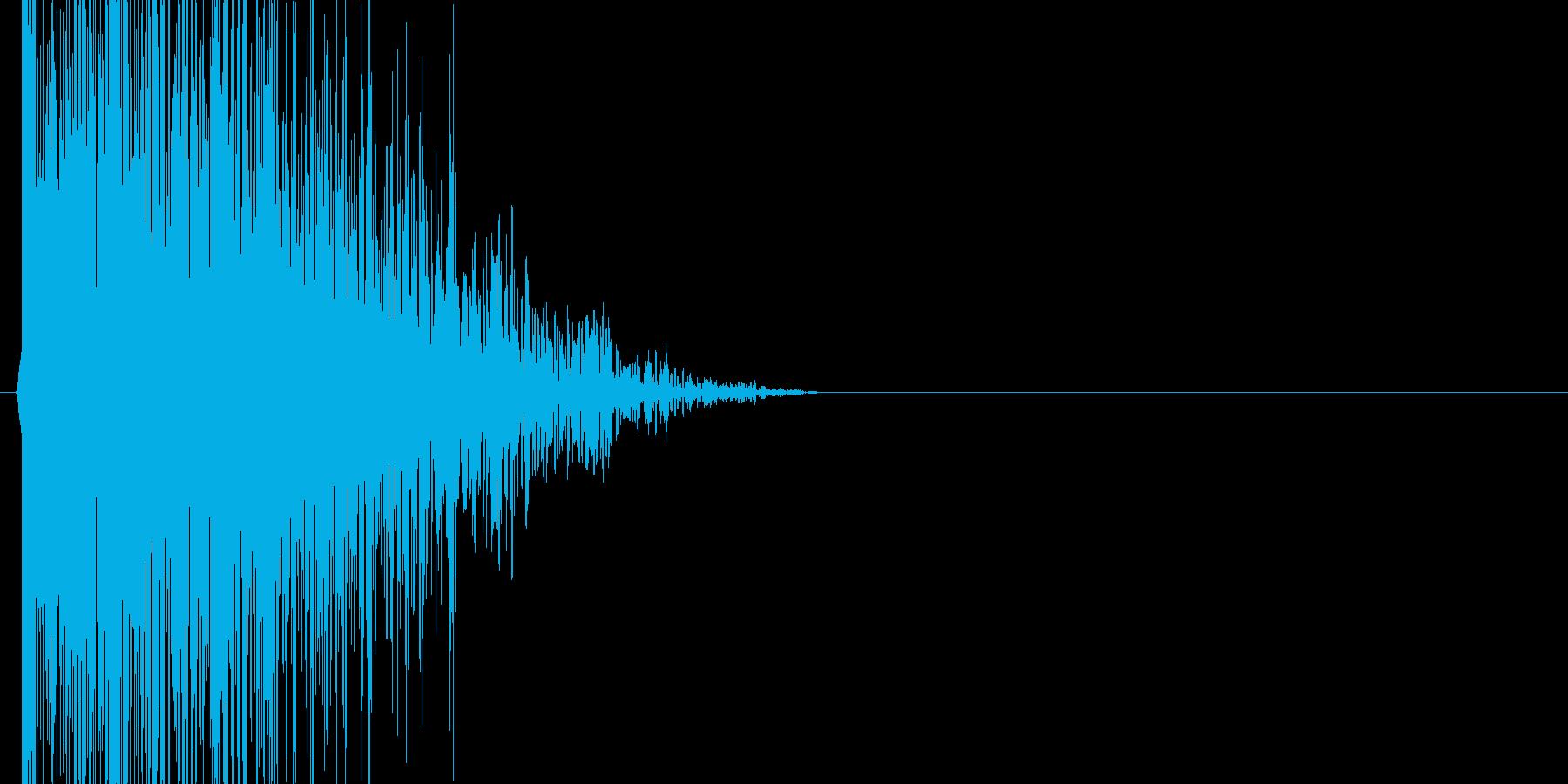 ドーンという衝撃音の再生済みの波形