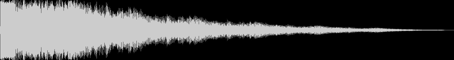 決定音 ディレイをかけたベルの音での未再生の波形