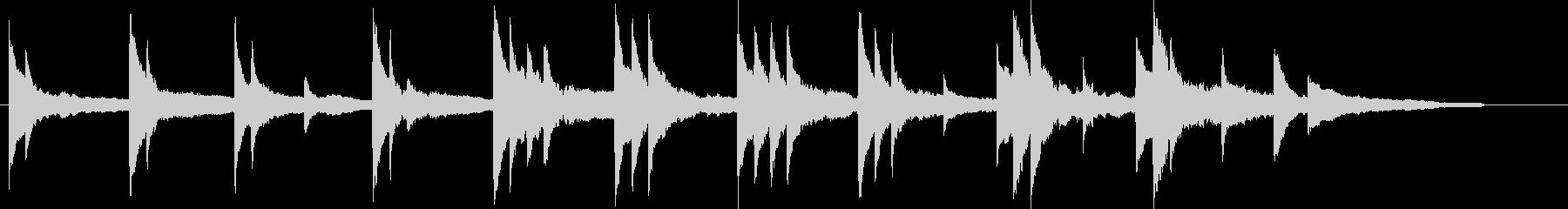 ピアノソロのスローで静かな楽曲の未再生の波形